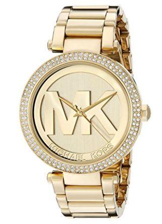 近史低价!Michael Kors Parker MK5784 金色系女士时尚腕表/手表 190.58加元包邮!