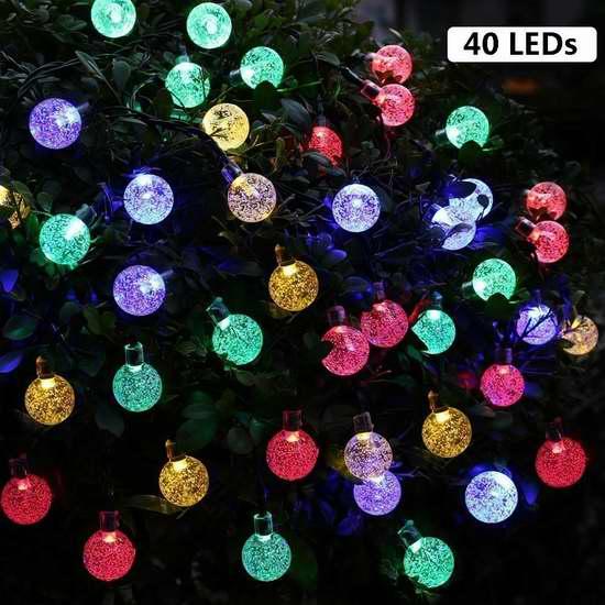 B-right 40 LED 太阳能户外彩色水晶球灯 11.89加元限量特卖!