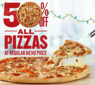 Domino's Pizza 在线下单订购披萨,享受5折优惠!