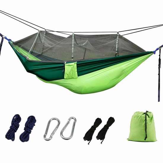 OYISIYI 高强度降落伞吊床+蚊帐 33.14加元限量特卖并包邮!