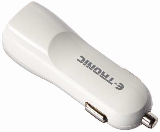 白菜价!Etronic 3.1A 15W USB双口车载充电器 1.75加元清仓!