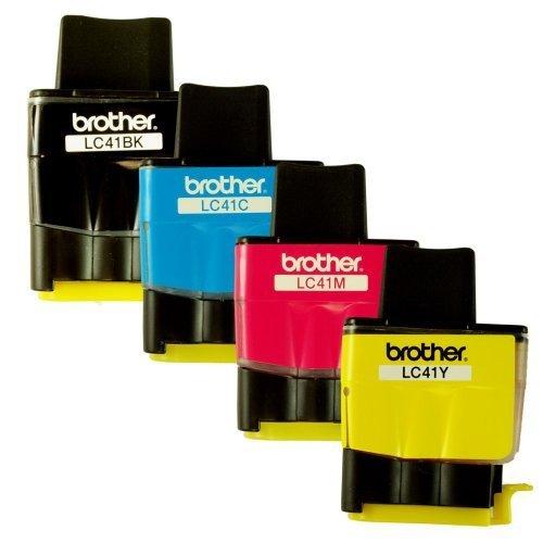 白菜价!Genuine OEM Brother 喷墨打印机 LC41 墨盒4件套 5加元清仓!