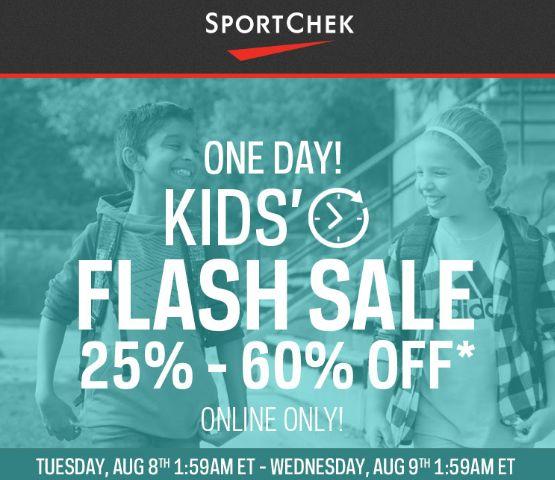 Sport Chek 24小时闪购!精选104款 New Balance、Adidas、Under Armour 等品牌青少年、儿童运动鞋、运动服、自行车、网球拍、冰鞋等4折起特卖并包邮!