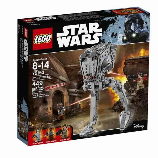 历史新低!LEGO 75153 星球大战 AT-ST 步行者(449pcs)6.4折 32加元!