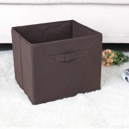白菜价!Unique Home 可折叠布艺收纳盒6件套 13.49加元清仓!3色可选!