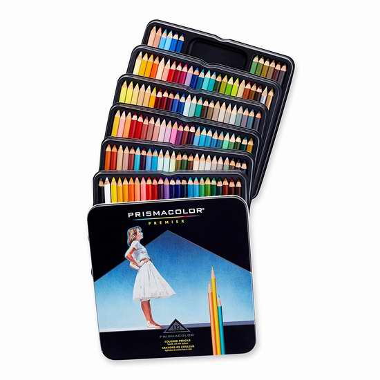 历史新低!Prismacolor Premier 顶级彩色铅笔(132支) 52.24-54.99 加元包邮!