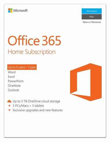 历史最低价!Microsoft Office 365 Home 家庭版1年订阅 79加元包邮!