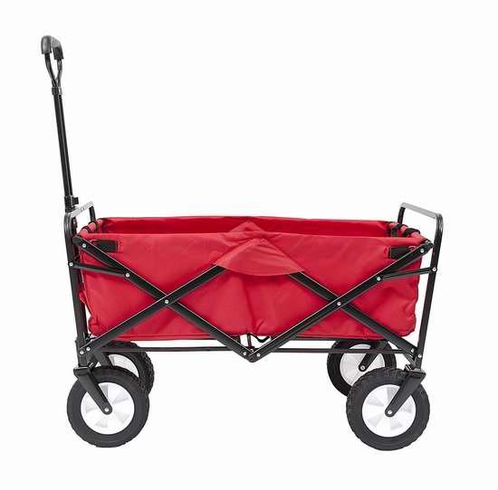 历史新低!Mac Sports 红色可折叠四轮拖车4.8折 104.07加元包邮!