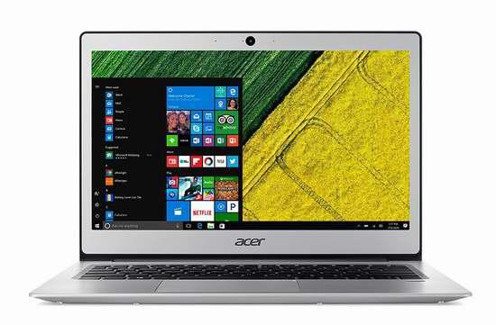 历史新低!Acer 宏碁 Swift 1 蜂鸟系列 13.3寸全金属超轻薄笔记本电脑(4GB/64GB) 398加元包邮!