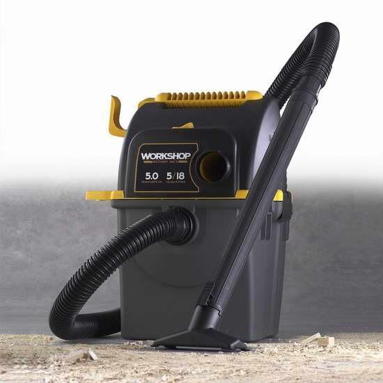 金盒頭條:精選多款 WORKSHOP 5馬力乾濕兩用吸塵器及配件4.6折起特賣!