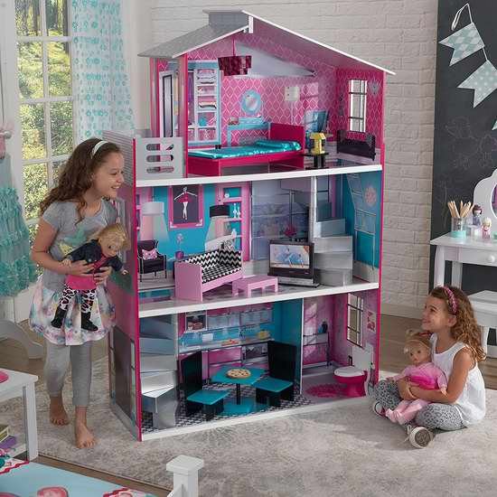 历史新低!KidKraft Breanna 1.69米 超大梦幻童话玩具娃娃屋4折 219.97加元包邮!