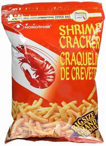 Nongshim 韩国农心 Shrimp Cracker 脆皮虾条400克超值装 3.98加元!