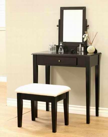 近史低价!Frenchi Home Furnishing MH203 梳妆台桌椅3件套 98.32加元包邮!