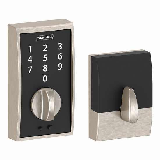 历史新低!Schlage BE375 CEN 619 触控式电子密码门锁5.3折 99.99加元包邮!