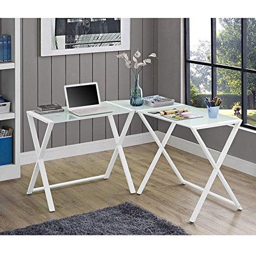 历史新低!Walker Edison Furniture L型时尚钢化玻璃办公桌4.3折 157加元包邮!3色可选!