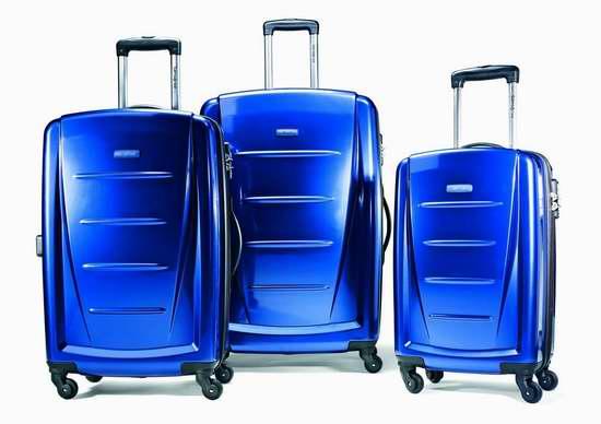 Samsonite 新秀丽 Winfield 2 金属蓝 硬壳拉杆行李箱3件套 303.17加元包邮!