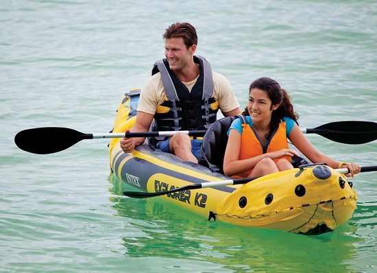 销量冠军!Intex Explorer K2 二人充气独木舟6.4折 125.99加元包邮!