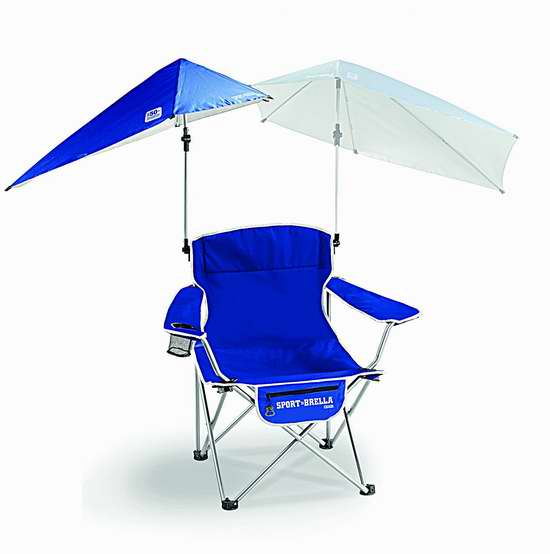 Sport-Brella 户外折叠椅+遮阳伞套装6.3折 43.99加元包邮!