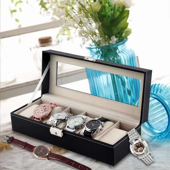 J.Rosée 大PU皮手表收纳盒1.8折 15.01加元限量特卖并包邮!