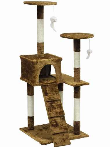 历史新低!Homesity HC-010 多层猫树公寓/猫爬架4.1折 62.76加元包邮!
