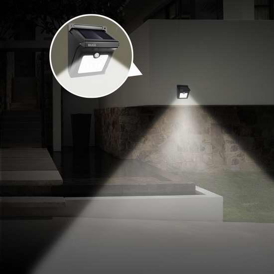 BAXIA TECHNOLOGY 28 LEDs 超亮太阳能防水运动感应灯4件套 32.99加元限量特卖并包邮!