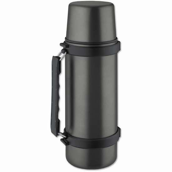 Isosteel VA-9553QAT 1000ml 真空双层不锈钢保温杯5.7折 15.99加元限量特卖!