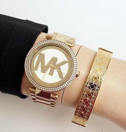 近史低价!Michael Kors Parker MK5784 金色系女士时尚腕表/手表 187.08加元包邮!