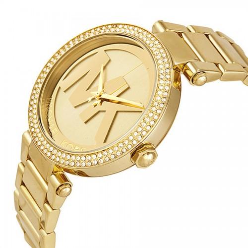 白菜价!历史新低!Michael Kors Parker MK5784 金色系大Logo 女士时尚腕表/手表2.8折 84.81加元包邮!