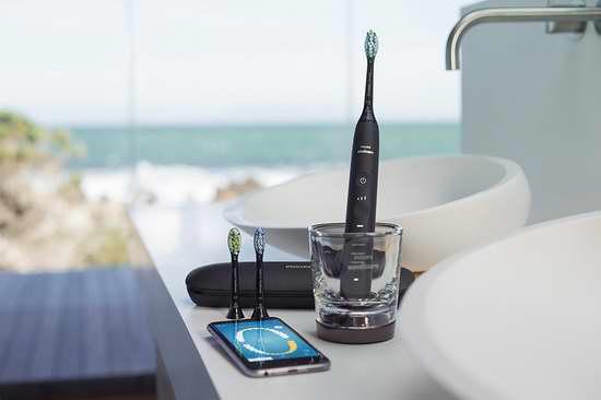 近史低价!新一代 Philips 飞利浦 HX9903 钻石亮白 蓝牙智能系列 声波震动牙刷 179加元包邮!两色可选!