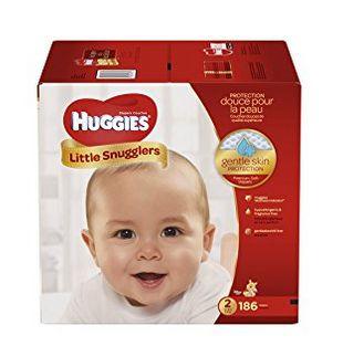 Huggies Little Snugglers 纸尿裤(1-6号)31.92加元(37.28加元),会员价 26.32加元