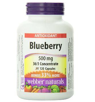 历史最低!Webber Naturals Blueberry 36:1 天然蓝莓浓缩胶囊护眼抗氧化 10.63加元(120粒),原价 15.99加元