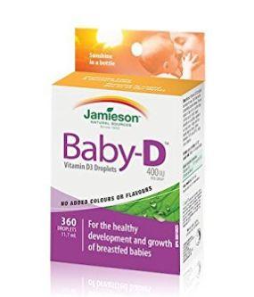 Jamieson 健美生 婴儿 Vitamin D3 400 IU 滴剂 11.99加元,原价 18.29加元
