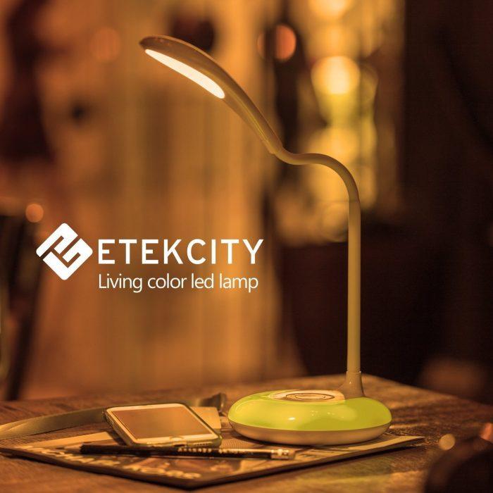 Etekcity个性化色彩护眼LED触摸式台灯21.99加元,原价69加元