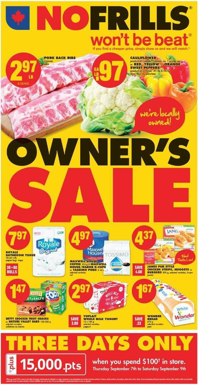 No Frills超市本周(2017.9.7-2017.9.13)打折海报
