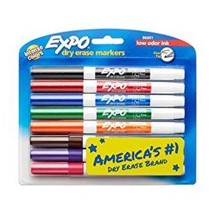 Expo 低气味无毒可擦干擦 马克笔 6.64加元,原价 14.72加元