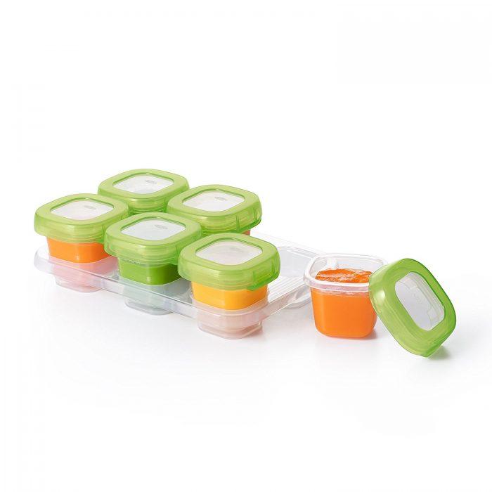 Oxo Tot 6112300 宝宝食品保鲜盒 9.99加元(6个装),原价 14.99加元