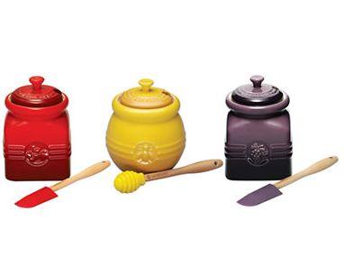厨房中的爱马仕!LE CREUSET 迷你调味罐3件套 41.99加元,原价 69.99加元,包邮