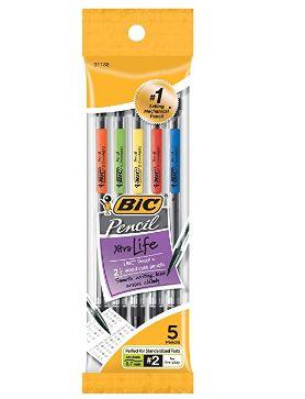BIC 自动铅笔 5支装 1.97加元(0.7mm黑色),原价 3.38加元
