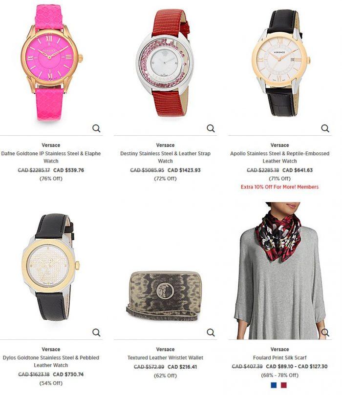 精选 4款 Versace 范思哲时尚腕表 2.6折 539.76加元起特卖!