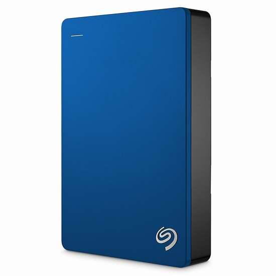 历史新低!Seagate 希捷 Backup Plus 4TB 超薄便携式移动硬盘5折 119.99加元包邮!2色可选!