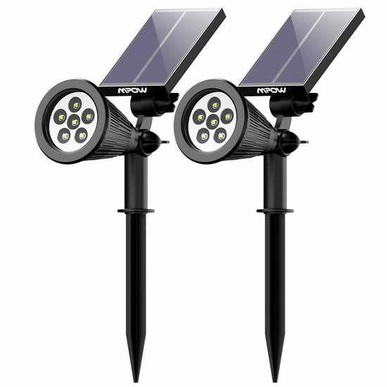 历史新低!Mpow 6 LED 太阳能户外防水射灯2件套3.6折 18.99加元清仓!