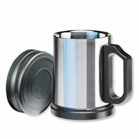历史新低!Isosteel VA-9557 14盎司双层真空不锈钢保温杯4折 7.99加元!