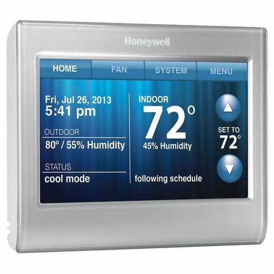 历史新低!Honeywell RTH9580WF1013/W1 Wi-Fi 空调冷暖气 家用智能温控器5.2折 120加元包邮!