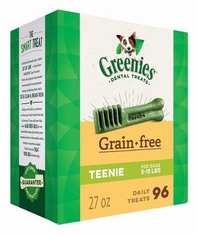 Greenies 不含谷物 狗狗洁齿骨超值装(27中粒/96小粒)4.7折 20.42加元!2款可选!
