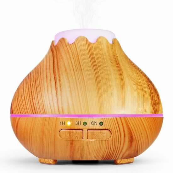 白菜价!历史新低!Maxnic 150ml 木纹超声波精油香薰/加湿器2.7折 10.99加元!