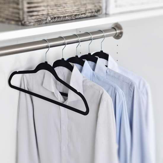 Y&M 超薄防滑无痕绒面衣架50件套超值装2.8折 20.99加元!