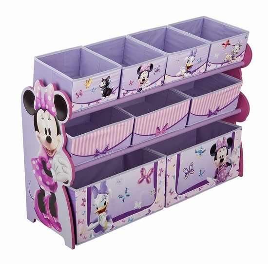 历史新低!Delta Children 米妮老鼠 豪华儿童玩具收纳架 47.97加元包邮!