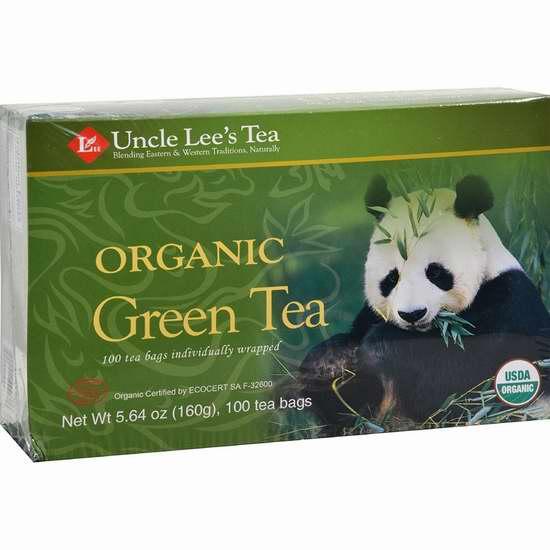 精选多款 Uncle Lee's Tea 中国有机茶、绿茶、乌龙茶、红茶等3.1折起清仓!