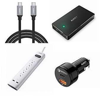 精选10款 AUKEY 充电宝、插线板、USB-C数据线、USB充电器、车载充电器等特价销售,额外再打7折!