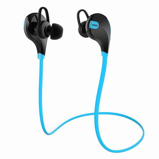 AUKEY 蓝牙无线运动耳机4.7折 18.99加元!